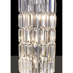 Gray Diyas IL30070 Torre Crystal 1 Meter Polished Chrome