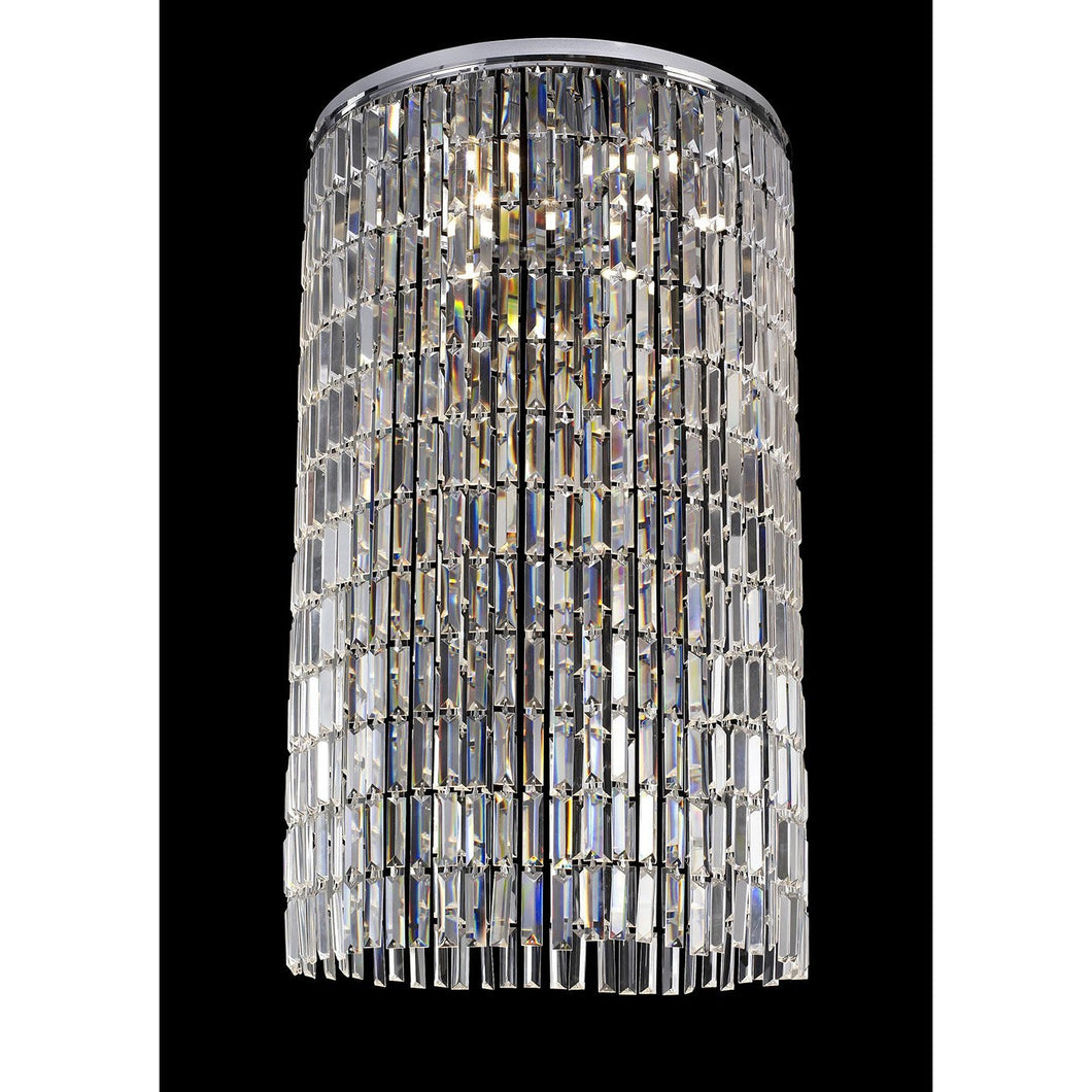 Dark Gray Diyas IL30077 Torre Pendant *** Plate Only *** 7 Light Polished Chrome/Crystal To Order