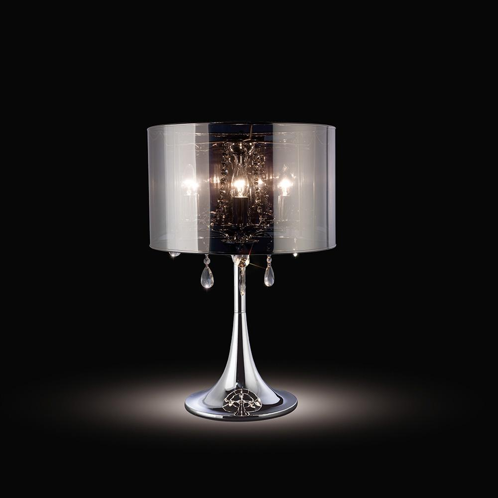 Dark Gray Diyas IL30462 Trace Table Lamp With Chrome Shade 3 Light Polished Chrome/PVC /Crystal diyas-il30462-trace-table-lamp-with-chrome-shade-3-light-polished-chrome-pvc-crystal Trace