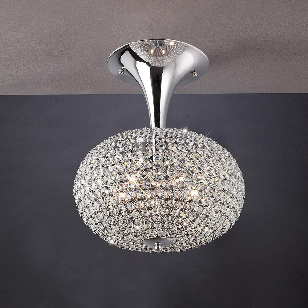 Dark Gray Diyas IL30416 Vado Semi Ceiling 5 Light Polished Chrome/Crystal diyas-il30416-vado-semi-ceiling-5-light-polished-chrome-crystal Vado