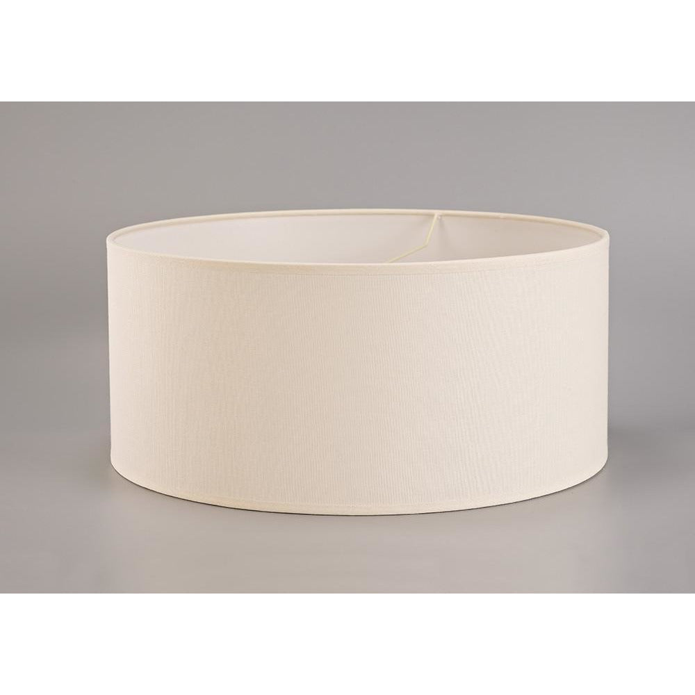 Gray Diyas ILS20294 Victoria Round Fabric Shade Ivory Cream 500 x 225mm diyas-ils20294-victoria-round-fabric-shade-ivory-cream-500-x-225mm Victoria