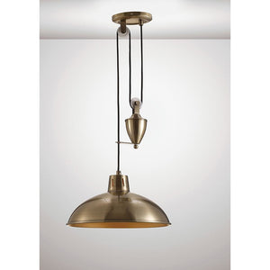 White Smoke Deco D0147 Wellington Pulley System Pendant 1 Light E27 Antique Brass deco-d0147-wellington-pulley-system-pendant-1-light-e27-antique-brass