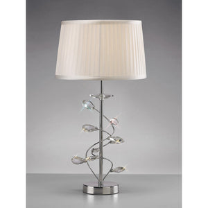 Gray Diyas IL31210 Willow Table Lamp With White Shade 1 Light Polished Chrome/Crystal diyas-il31210-willow-table-lamp-with-white-shade-1-light-polished-chrome-crystal Willow