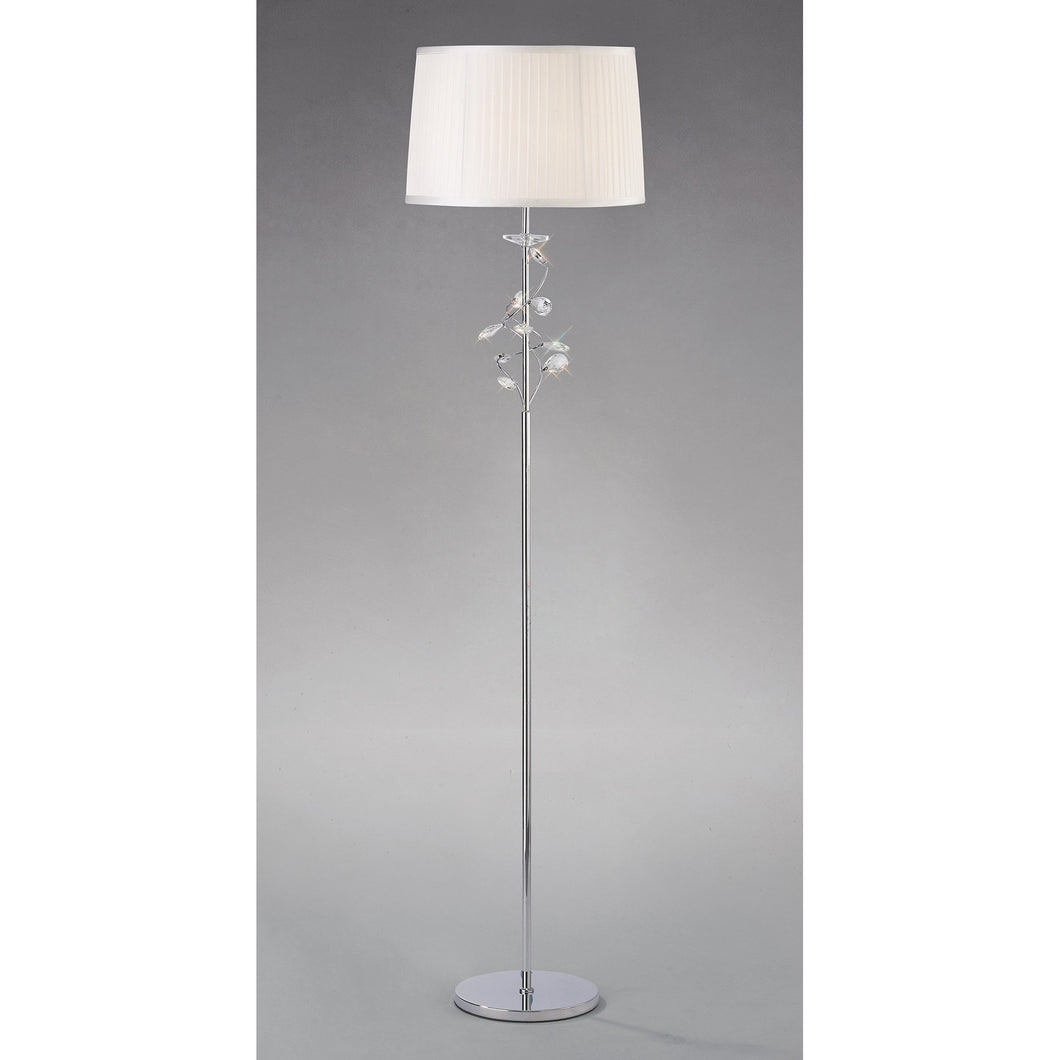 Gray Diyas IL31214 Willow Floor Lamp With White Shade 1 Light Polished Chrome/Crystal diyas-il31214-willow-floor-lamp-with-white-shade-1-light-polished-chrome-crystal Willow