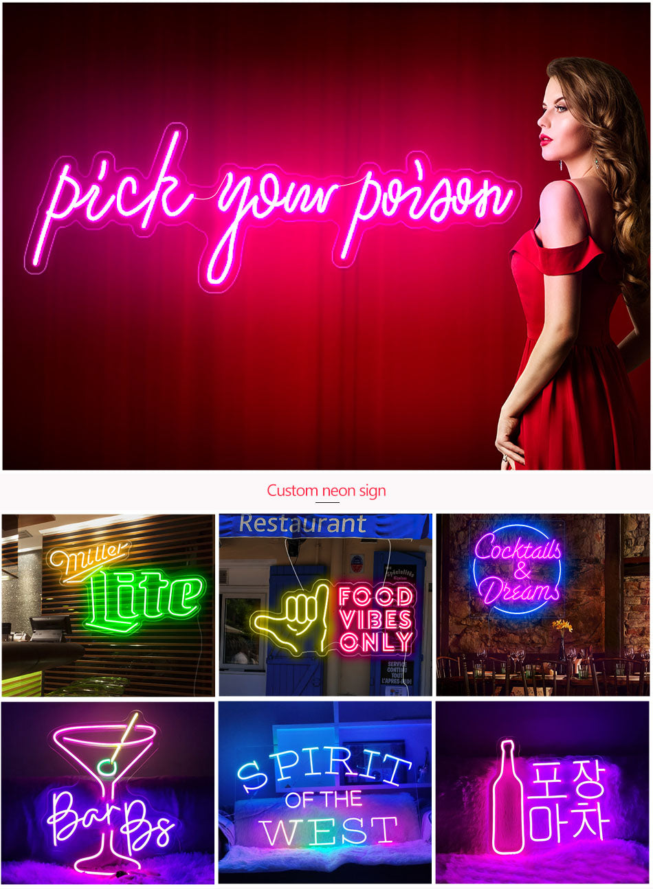 Pick Your Poison led neon lights