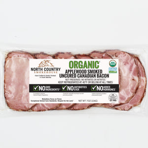 North Country Organic Applewood Smoked Canadian Bacon, 7oz