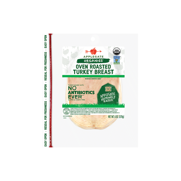 Applegate Organics Oven Roasted Turkey Breast, 6oz