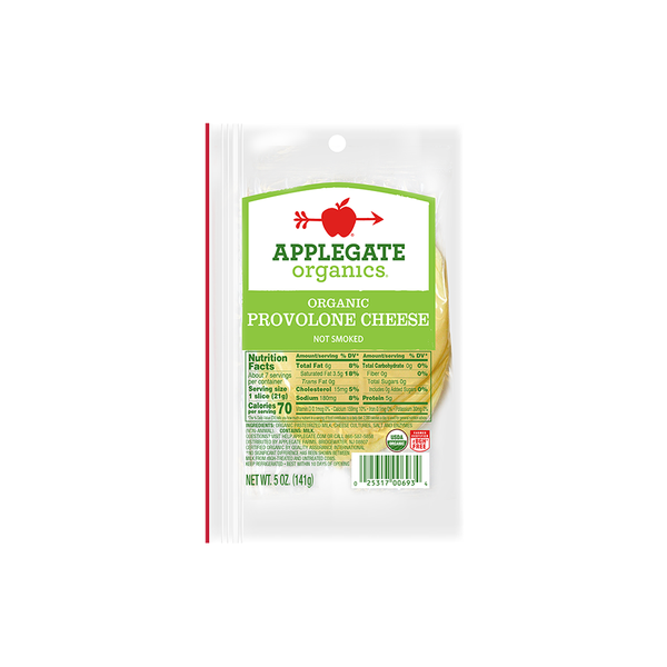 Applegate Organics Provolone Cheese, 5oz