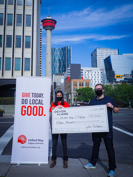 Tyler McCombs, Founder of Devon + Lang Donating $15,000 to United Way of Calgary