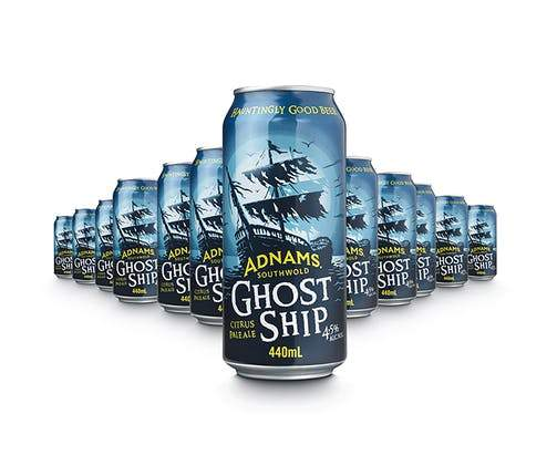 Adnams Ghost Ship Cans 440ml x 24 case, Beer by The Drink Market