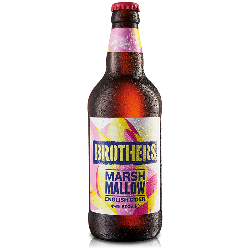 Brothers Marshmallow Cider 12 x 500ml case, Cider by The Drink Market