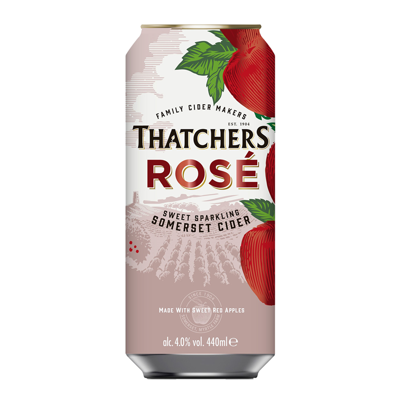 Thatchers Rose 10 x 440ml Can Case, Cider by The Drink Market