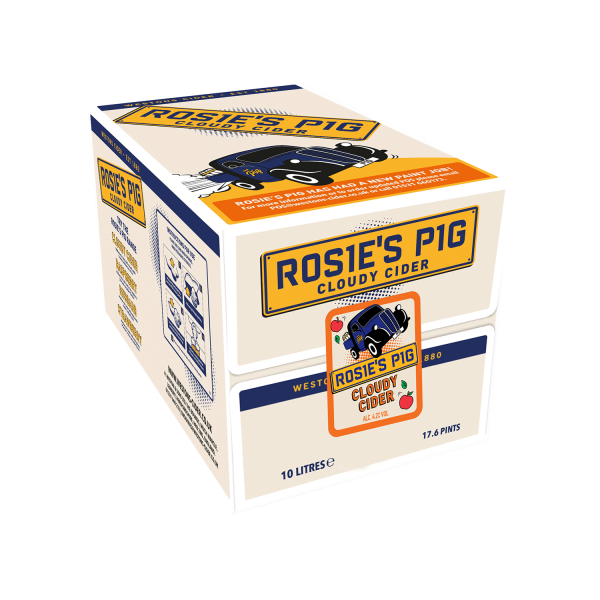 Rosie's Pig Cloudy cider 10L Box, Cider by The Drink Market