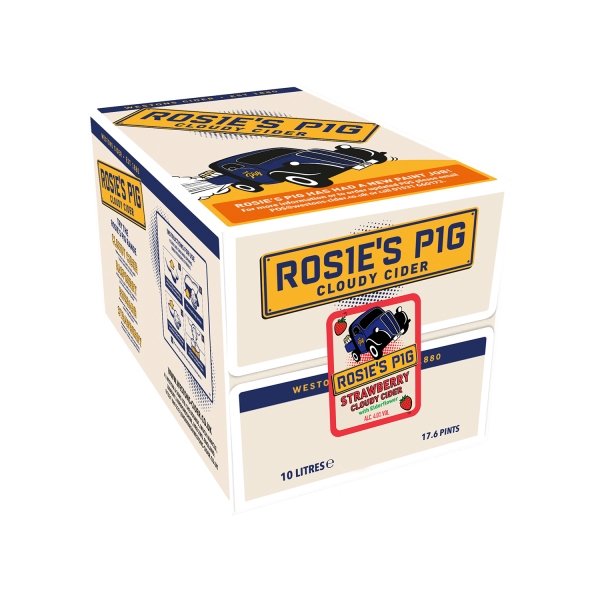 Rosie's Pig Cloudy Starwberry Cider 10L Box, Cider by The Drink Market