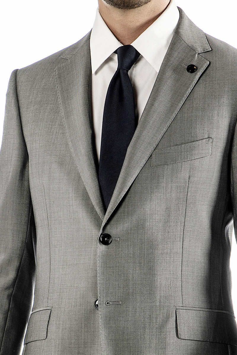 Gray Wool Travel Suit