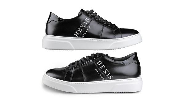 Sneakers Hexis in pelle Nera