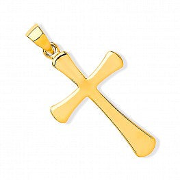 9ct Yellow Gold Plain Cross