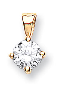 18ct Yellow Gold 0.25ct Claw Set Diamond Pendant