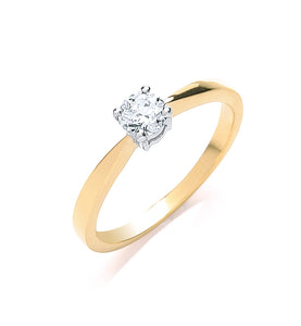 18ct Yellow Gold 0.35ct Diamond Ring