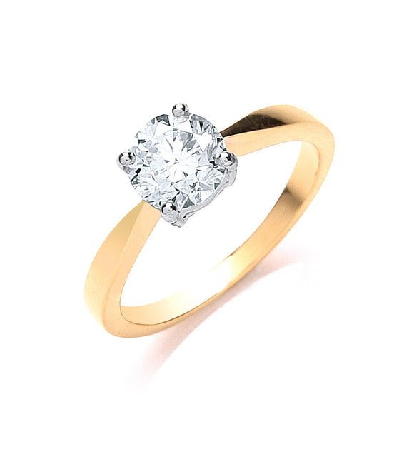 18ct Yellow Gold 1.00ct Diamond Engagement Ring
