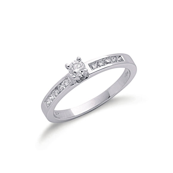 9ct White Gold 0.30ct Diamond Ring