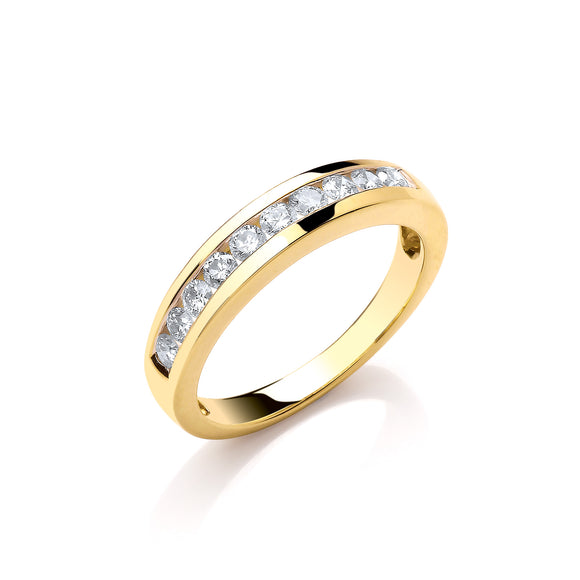 18ct Yellow Gold 0.50ct Diamond Eternity Ring