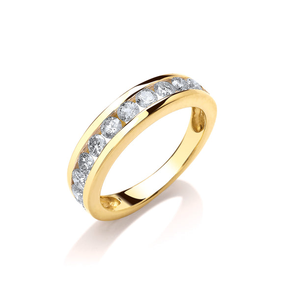 18ct Yellow Gold 0.75ct Diamond Eternity Ring