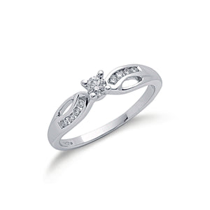 9ct White Gold 0.26ct Diamond Ring