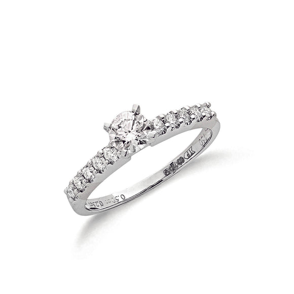 18ct White Gold 0.75ct Diamond Ring