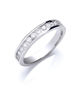 18ct White Gold 0.50ct Half Eternity Ring