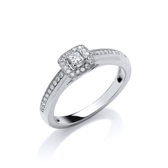 18ct White Gold 0.25ct Fancy Ring