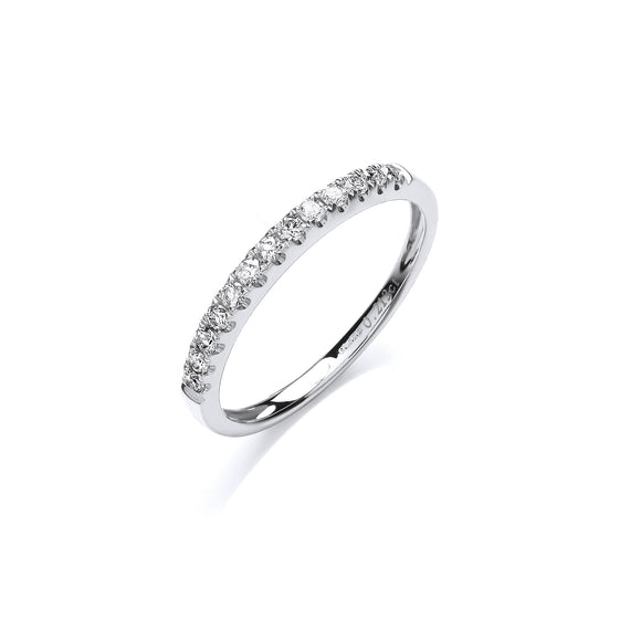 18ct White Gold 0.20ct Half Eternity Ring