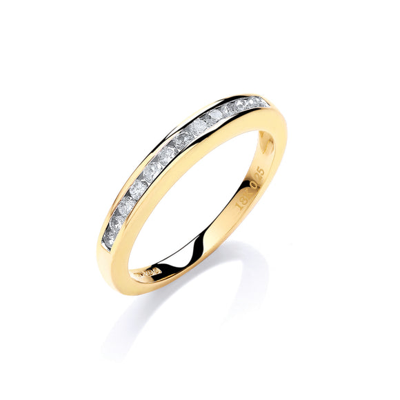18ct Yellow Gold 0.25ct Diamond Eternity Ring
