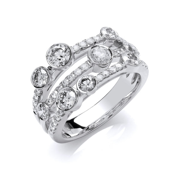 18ct White Gold 1.60ct Diamond Dress Ring