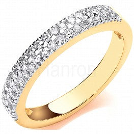 18ct Yellow Gold 0.31ct Diamond Eternity Ring