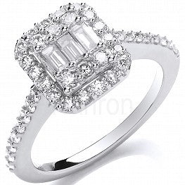 18ct White Gold 0.83ct Diamond Ring