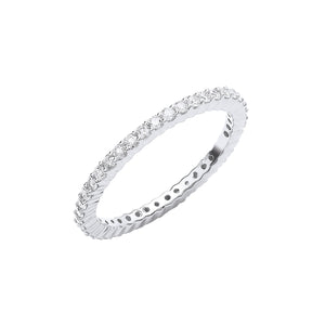 18ct White Gold 0.50ct Full Diamond Eternity Ring