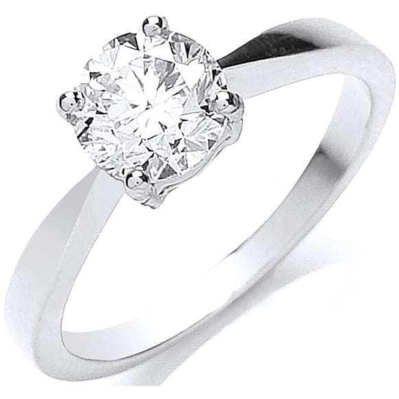 Platinum 1.00ct Diamond Ring Clarity Si Colour H