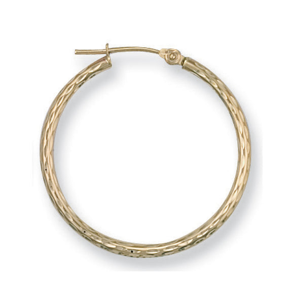 9ct Yellow Gold Hoop Earrings (1.2g)