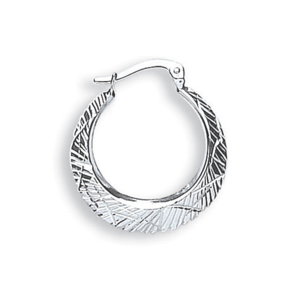 9ct White Gold Hoop Earrings (1.3g)