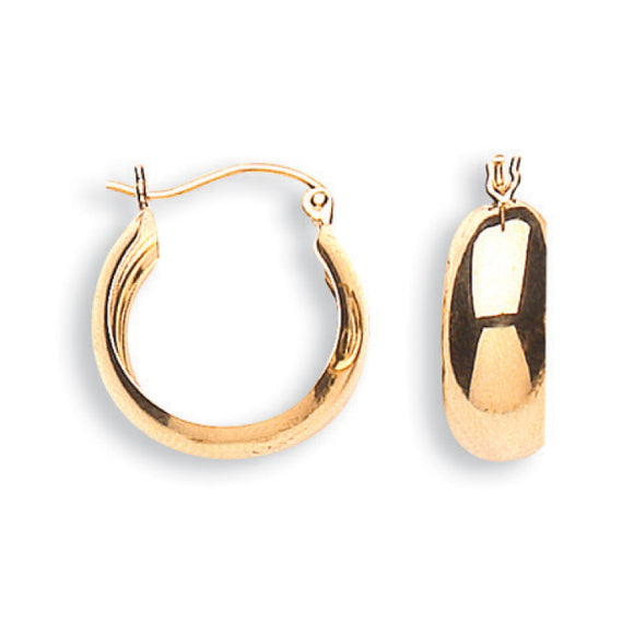 9ct Yellow Gold Hoop Earrings (1.4g)