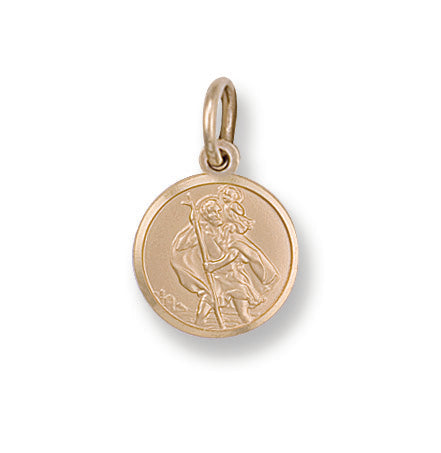 9ct Yellow Gold St Christopher Pendant (1.6g)