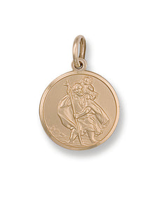9ct Yellow Gold St Christopher Pendant (3.7g)