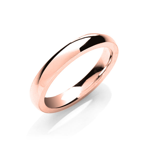 18ct Rose Gold 3mm Court Shape Wedding Band 4g
