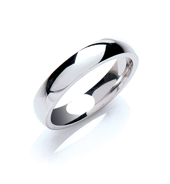 Palladium 4mm Court Shape Wedding Band 4.3g
