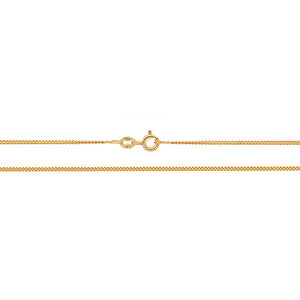 9ct Yellow Gold Traditional Classic Curb Chain