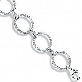 9ct White Gold 1.20ct Diamond Bracelet