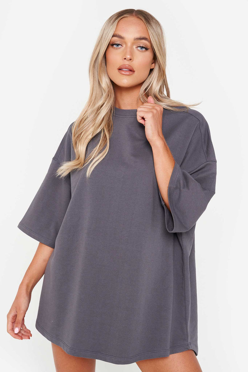Charcoal Grey Oversized T-Shirt