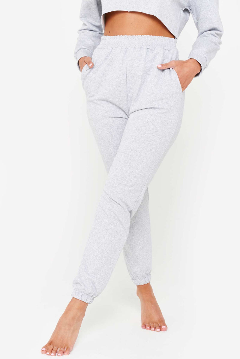 Heather Grey Loop Back Jogger