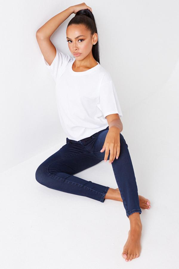 Blue Calvin Klein Mid Rise Skinny Jeans